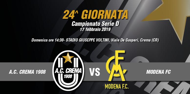 AC CREMA 1908 vs MODENA FC / MODALITÀ DI ACCREDITO E DI ACQUISTO BIGLIETTI