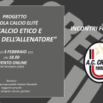 SCUOLA CALCIO ELITE_INCONTRI FORMATIVI _ 3 FEBBRAIO 2021