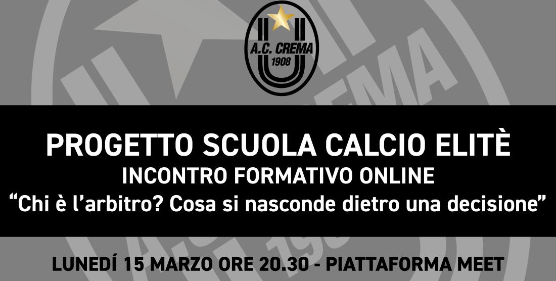 SETTORE GIOVANILE/ PROGETTO SCUOLA CALCIO ELITÈ – INCONTRO FORMATIVO 15 MARZO ORE 20.30